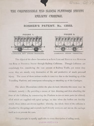 Advertisement for the Compressible & Sliding Platform Safety Railway Carriage